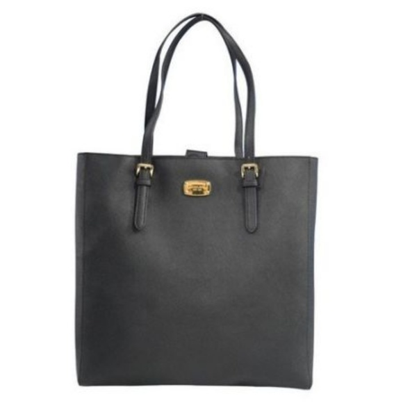 Women s Michael Kors Leather Black Tote Travel b78af024a